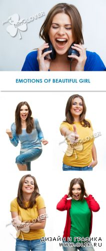 Emotions of beautiful girl 0264