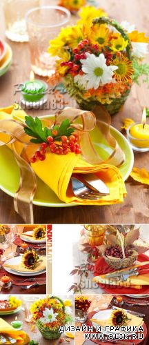 Stock Photo - Autumn Table Setting