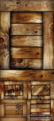 Wooden Box Backgrounds Vector