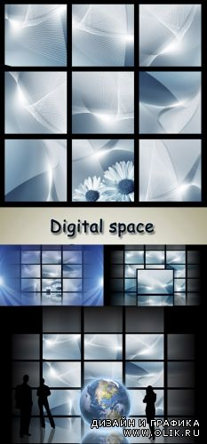 Stock Photo: Digital space
