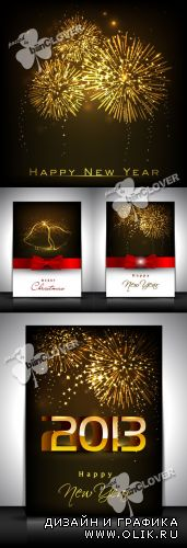 Happy New Year greeting card 0280