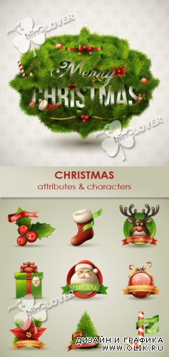 Christmas attributes and characters 0284