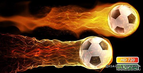 Videohive motion graphic - Soccer fireball