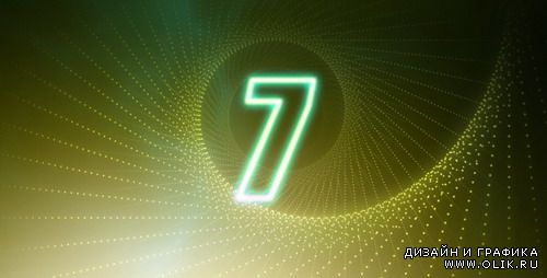 Videohive motion graphic - Countdown Glow Number