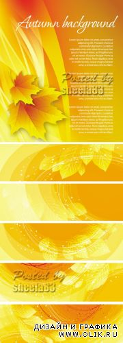 Autumn Backgrounds & Banners Vector