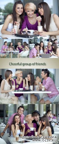 Stock Photo: Cheerful group of friends