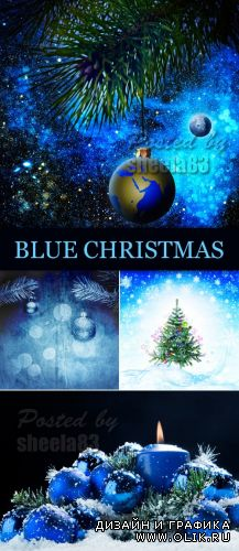 Stock Photo - Blue Christmas Backgrounds