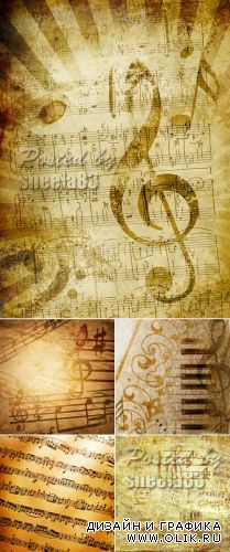 Stock Photo - Vintage Music Backgrounds
