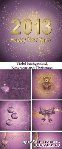 Stock: Violet and lilac background, New year and Christmas