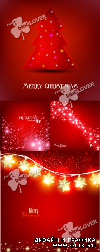 Red Christmas background 0306