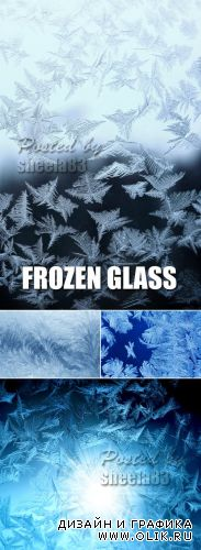 Stock Photo - Frozen Glass Textures