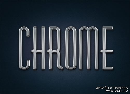 Metal Chrome style for Photoshop
