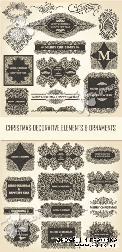Christmas decorative elements and ornaments 0343