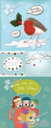 Funny Christmas background 0344