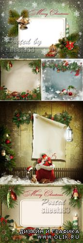 Stock Photo - Vintage Christmas Backgrounds 3