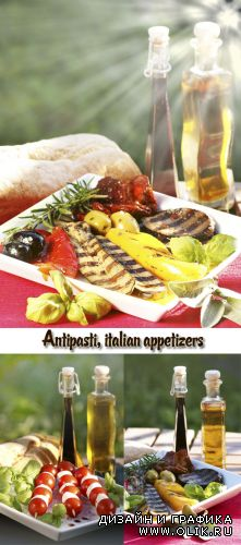 Stock Photo: Antipasti, italian appetizers