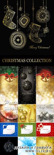 Christmas Backgrounds Collection Vector