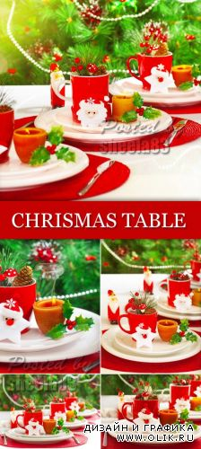 Stock Photo - Decorated Christmas Table