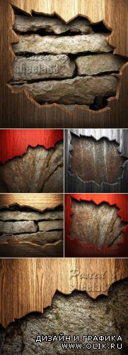 Stock Photo - Wood on the Wall
