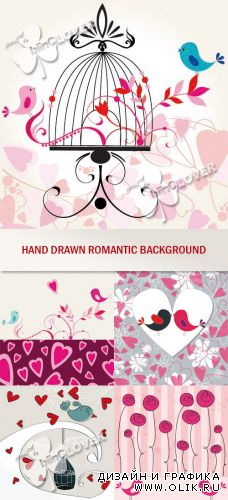 Hand drawn romantic background 0350