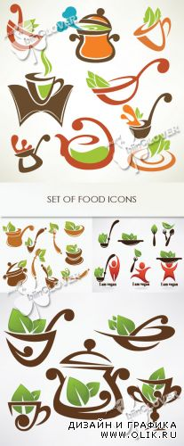 Set of food icons 0351