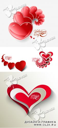 Valentine's day background with hearts 0365