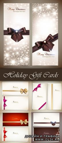 Holiday Gift Cards Vector 2