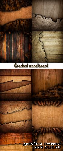 Stock Photo: Cracked wood board