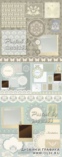 Vintage Paper Objects Vector