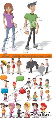 Дети студенты молодёжь и бизнесмены | People - children students businessman vector
