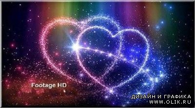 Romantic footage sparkling heart