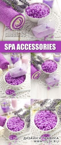 Stock Photo - Violet Spa Accessories