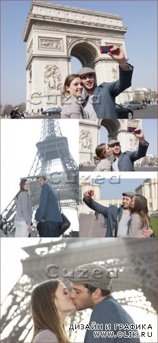 Романтик в Париже/ Romantic in Paris - Stock photo
