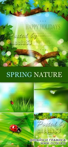 Spring Nature Backgrounds Vector