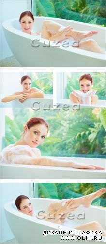 Stock photo - Девушка в ванной/  The girl in a bathroom
