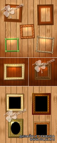 Vintage frame on wall 0387