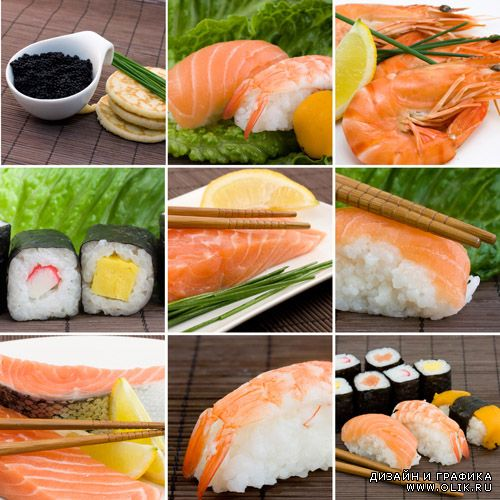 Stock Photos - A Set of Variety Sushi