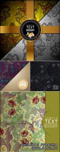 Floral Book Covers Vector