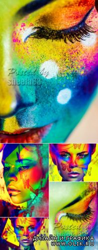 Stock Photo - Creative Color Make Up