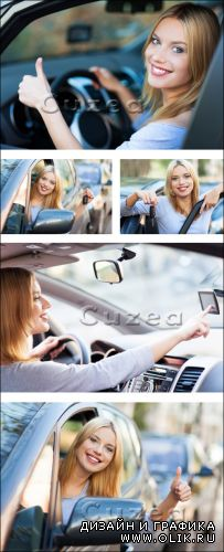 Девушка в автомобиле/ Girl in the car  -  Stock photo