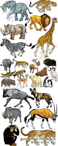 Set of cartoon animals 0409