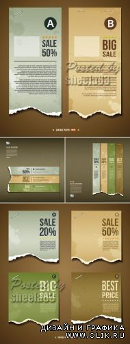 Ripped Paper Banners Vector