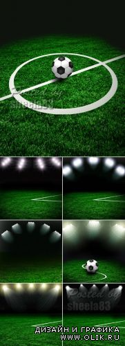 Stock Photo - Soccer Green Field
