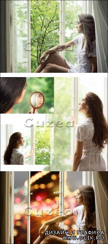 Девушка и окно/ Woman and window - Stock photo