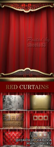 Stock Photo - Red Curtains