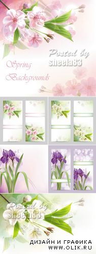 Spring Backgrounds & Banners Vector