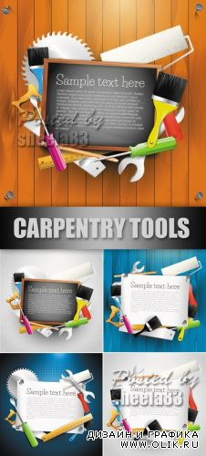 Carpentry Tools Backgrounds Vector