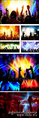 Аплодисменты зрителей на концерте/ Applause of the audience at a concert - Stock photo
