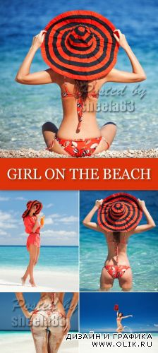 Stock Photo - Girl on the Beach