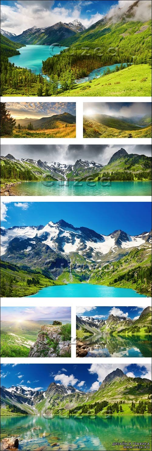 Горы и горное озеро/ Wondeful nature and mointains - Stock photo